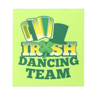 ÉQUIPE irlandaise de danse Blocs Mémo