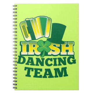 ÉQUIPE irlandaise de danse Carnet