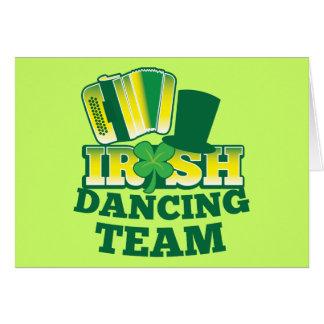 ÉQUIPE irlandaise de danse Carte De Vœux