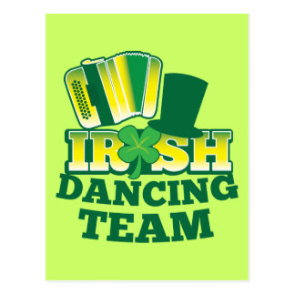 ÉQUIPE irlandaise de danse Carte Postale