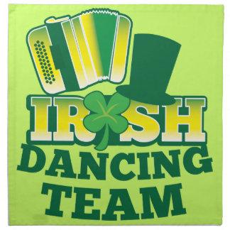 ÉQUIPE irlandaise de danse Serviettes En Tissus