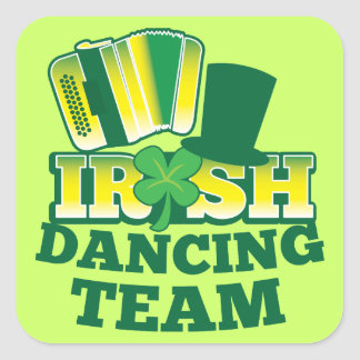 ÉQUIPE irlandaise de danse Sticker Carré