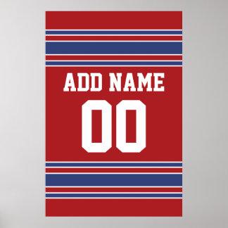 Équipe Jersey avec le nom et le nombre faits sur c Posters