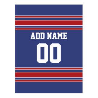 Équipe Jersey avec le nom et le nombre faits sur c Carte Postale