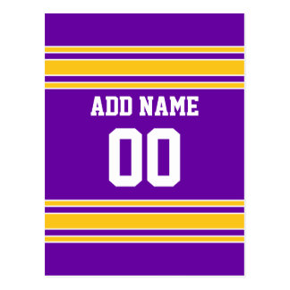 Équipe Jersey avec le nom et le nombre faits sur c Cartes Postales