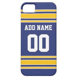 Équipe Jersey avec le nom et le nombre faits sur Coque iPhone 5