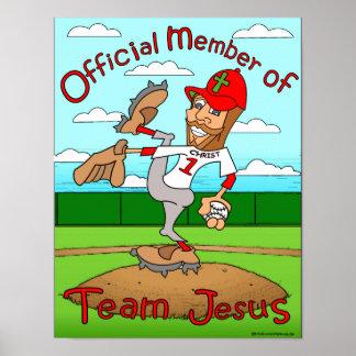 Équipe Jésus base-ball Posters