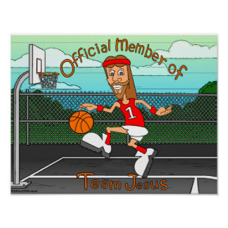 Équipe Jésus basket-ball Affiche