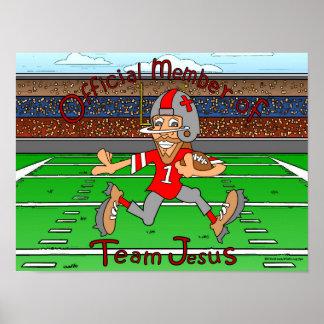 Équipe Jésus (le football) Poster