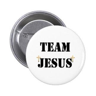 Équipe Jésus Macaron Rond 5 Cm