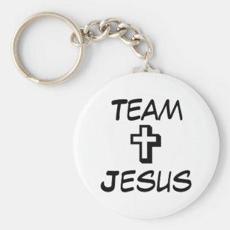 Équipe Jésus Porte-clé Rond