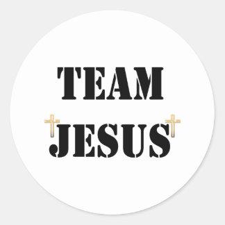 Équipe Jésus Sticker Rond