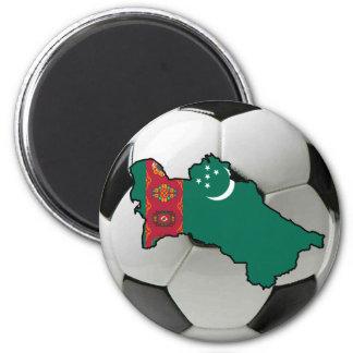 Équipe nationale du Turkménistan Magnet Rond 8 Cm