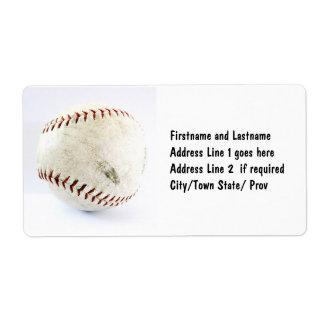 Équipe ou ligue du base-ball étiquette d'expédition