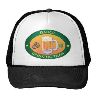 Équipe potable de danse casquettes