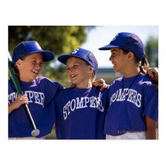 Équipiers du base-ball cartes postales