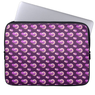 Equipment covering Donuts eggplant Laptop Sleeve