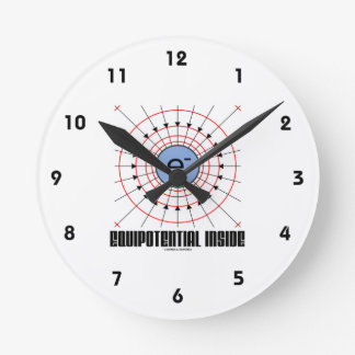 Equipotential Inside (Electron Equipotential) Clocks