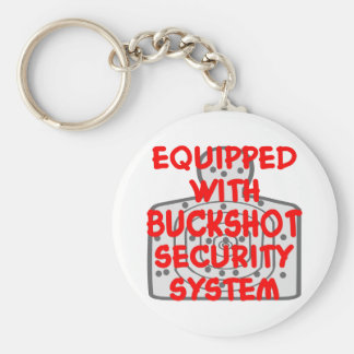 Equipped With Buckshot Security System Keychain