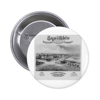 Equitable Mortgage Co. 1888 2 Inch Round Button