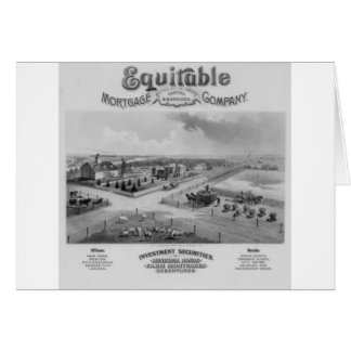 Equitable Mortgage Co. 1888 Greeting Card