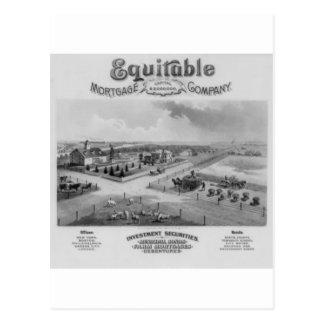 Equitable Mortgage Co. 1888 Postcard