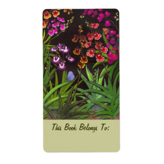 Equitant Oncidium Orchids Bookplates Shipping Label
