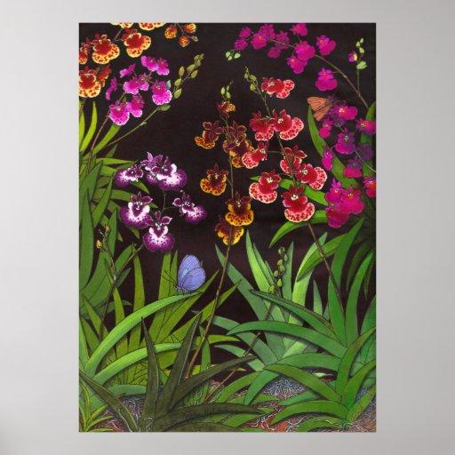 Equitant Oncidium Orchids Print