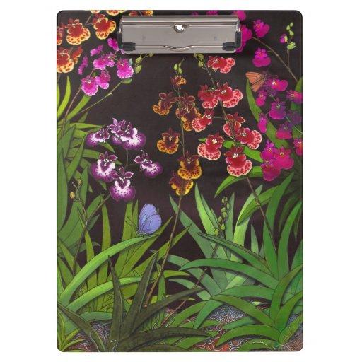 Equitant Oncidium Tolumnia Orchid Floral Clipboard