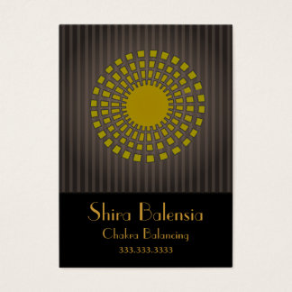 Eqyptian Sunburst With Stripes Business Card