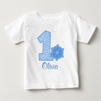 Ęr anniversaire de flocon de neige bleu t-shirts