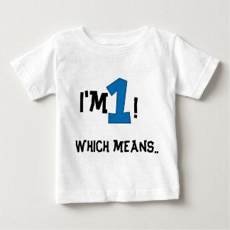 ęr anniversaire t-shirt pour bébé