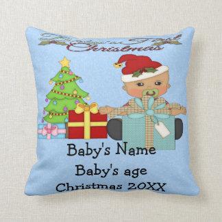 Ęr carreau de Noël du bébé Oreiller