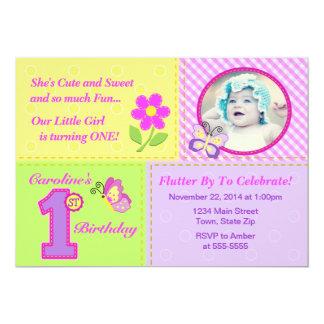 Ęr carte photo de l'invitation 5x7 d'anniversaire carton d'invitation  12,7 cm x 17,78 cm