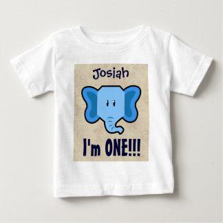 ęr Garçon CHEVRON d'anniversaire un nom fait sur T-shirt Pour Bébé