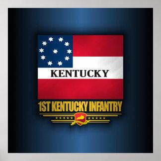 ęr Infanterie du Kentucky Poster
