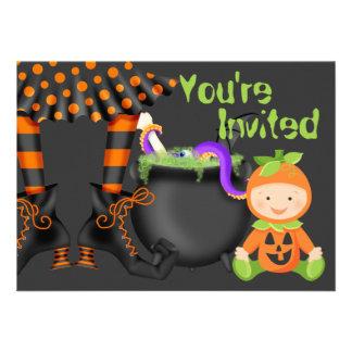 Ęr invitation d anniversaire de Halloween de bébé