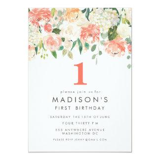 Ęr invitation d'anniversaire de filles florales