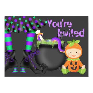 Ęr invitation d'anniversaire de Halloween de bébé