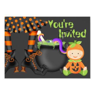 Ęr invitation d'anniversaire de Halloween de bébé Carton D'invitation 11,43 Cm X 15,87 Cm