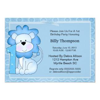 ęr Invitation de partie de lion d'anniversaire Carton D'invitation 12,7 Cm X 17,78 Cm