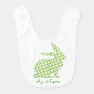Ęr lapin de vert de bavoir de Pâques du bébé
