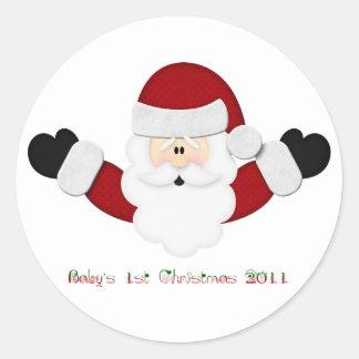 Ęr Noël 2011 de Babys Sticker Rond