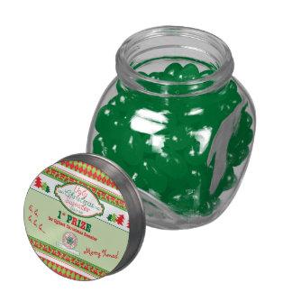 Ęr Noël de prix d'endroit de Noël de partie laide Pots En Verre Pour Bonbons