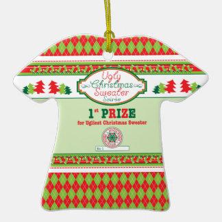 Ęr Noël de prix d'endroit de Noël de partie laide Ornement T-shirt En Céramique