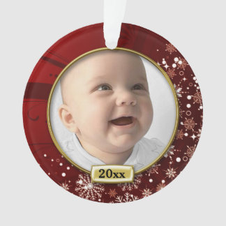 Ęr Noël du bébé rouge de cadre