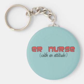 ER Nurse (With An Attitude) Keychain