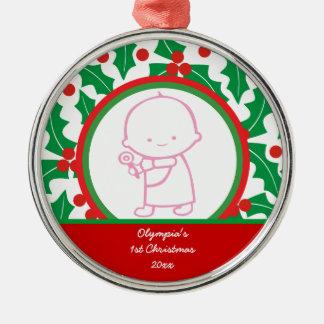 Ęr ornement de coutume de Noël du bébé saint de