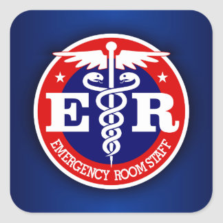 ER Staff Square Sticker