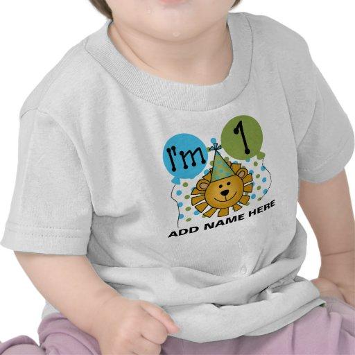 Ęr T-shirt personnalisé d'anniversaire de lion